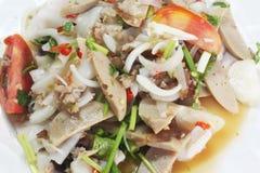 Тайский салат сосиски свинины стоковая фотография rf