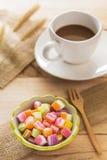 Тайский сахар десерта камедеобразный с кофе Стоковые Изображения RF