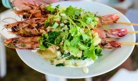 Тайский салат креветок стоковое изображение