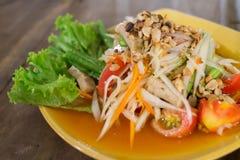 Тайский салат 3 папапайи Стоковые Изображения