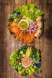 Тайский соус chili или Nam Prik и баклажан овоща установленный, aubergi Стоковые Фотографии RF