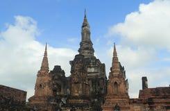 Тайский стародедовский висок stupa Стоковая Фотография
