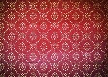 Тайский стиль искусства на красное деревянном стоковые изображения rf