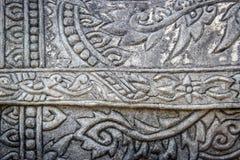 Тайский стиль картины на цементе Стоковые Фотографии RF