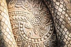 Тайский стиль картины на цементе Стоковое фото RF