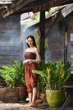 Тайский стиль платья женщин тайский Стоковое Изображение