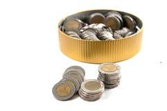 Тайский стог монетки 10 батов Стоковые Изображения