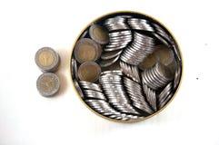 Тайский стог монетки 10 батов Стоковая Фотография RF