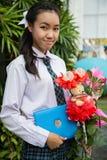 Тайский студент девушки Стоковое Изображение RF