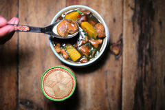 Тайский суп гриба еды Стоковое фото RF