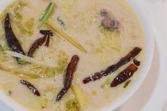 Тайский суп кокоса с цыпленком Стоковая Фотография RF