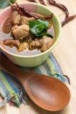 Тайский суп ноги свинины Стоковое Фото