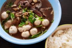Тайский суп свинины Стоковое фото RF