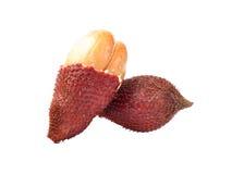 Тайский сладостный плодоовощ, Zalacca изолировал на плодоовощ белого backgroundThai сладостном, Zalacca изолировал на белой предп Стоковая Фотография
