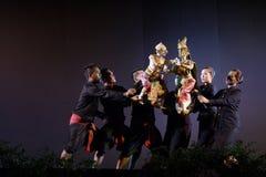 Тайский театр марионетки стоковая фотография rf