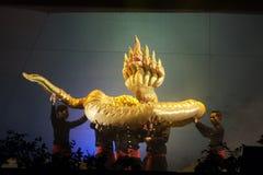 Тайский театр марионетки стоковое фото
