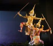 Тайский театр марионетки стоковая фотография