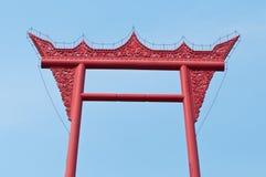 Тайский тип искусства на верхней части Стоковая Фотография RF