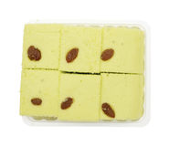 Тайский торт губки на белой предпосылке Стоковое фото RF