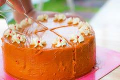 Тайский торт слоя чая стоковая фотография rf