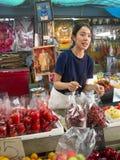 Тайский традиционный местный рынок стоковое изображение