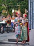 Тайский традиционный танец и драматические искусства стоковое фото rf