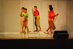 Тайский традиционный танец Стоковое Изображение