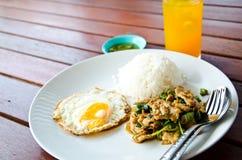 Тайский фаст-фуд обед стоковая фотография rf