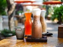 Тайский чай льда, кофе льда Стоковое Изображение RF