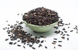 Тайский, чашка, рис, предпосылка, зеленый цвет, еда, белизна, черная стоковое фото