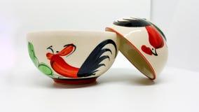 Тайский шар с картиной цыпленка и цветка Стоковое Изображение