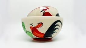 Тайский шар с картиной цыпленка и цветка Стоковые Фотографии RF