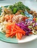Тайский южный пряный салат риса или Khao Ям Стоковые Фото