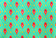 Тайский handcraft предпосылка и текстура ткани weave Стоковое фото RF