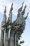 Тайский Naga, дракон с 5 головками Стоковые Фотографии RF
