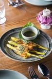 Тайским свинина зажаренный стилем с соленьем Стоковые Изображения RF