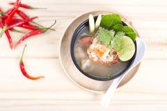 Тайское блюдо морепродуктов Тома Yum стоковое изображение rf