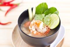 Тайское блюдо морепродуктов Тома Yum стоковое изображение