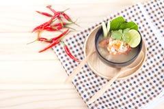 Тайское блюдо морепродуктов Тома Yum стоковая фотография
