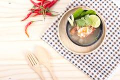 Тайское блюдо морепродуктов Тома Yum стоковое фото rf