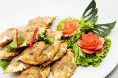 Тайское блюдо сделанное из синего краба мясо которого сварено стоковые изображения rf