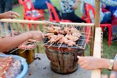 Тайское введенное в моду babeque свинины Стоковые Изображения