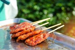 Тайское введенное в моду babeque свинины Стоковое Изображение RF
