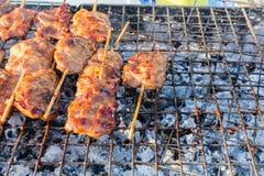 Тайское введенное в моду babeque свинины Стоковая Фотография