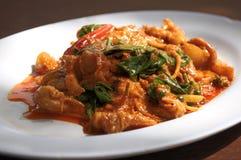 тайское вкусной еды карри красное стоковые изображения rf