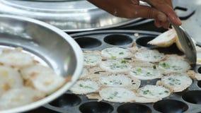 тайское десерта сладостное сток-видео