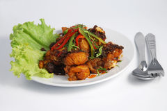 тайское еды рыб обеда зажаренное Стоковое Изображение RF