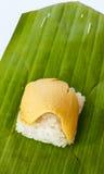 тайское десерта заварного крема испаренное рисом липкое стоковые фотографии rf
