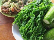 тайское еды установленное Стоковое Изображение RF