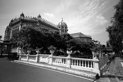 Тайское здание правительства, тайский Дом правительства, Бангкок, особняк Градуса Фаренгейта Таиланда в Бангкоке, чернота Таиланд стоковое изображение rf